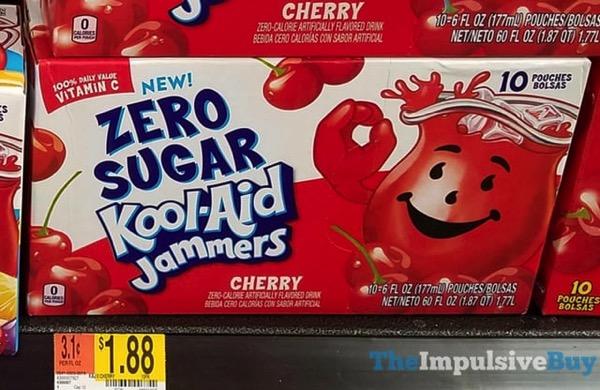 Zero Sugar Kool Aid Jammers Cherry