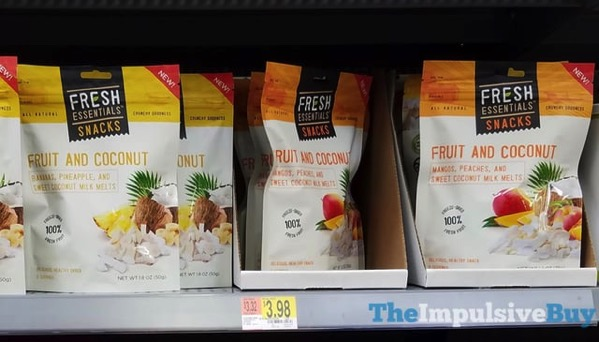 Fresh Essentials Snacks Fruit and Coconut  Banana  Pineapple and Mango  Peaches