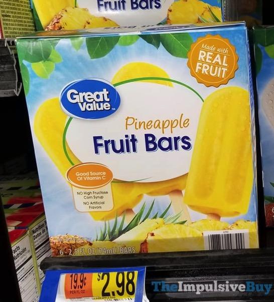 Great Value Pineapple Fruit Bars
