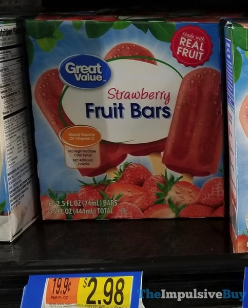 Great Value Strawberry Fruit Bars