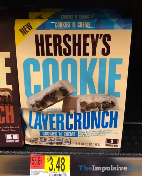 Hershey s Cookies  N Creme Cookie Layer Crunch Bars