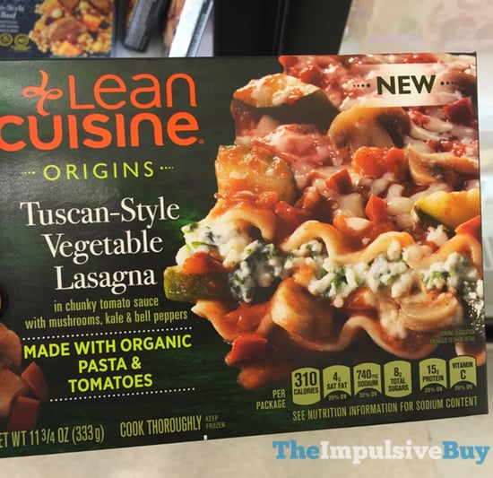 Lean Cuisine Origins Tuscan Style Vegetable Lasagna