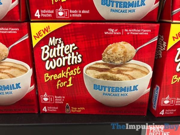 SPOTTED ON SHELVES: Mrs. Butterworth's Breakfast for 1 Pancake Mixes - The Impulsive Buy