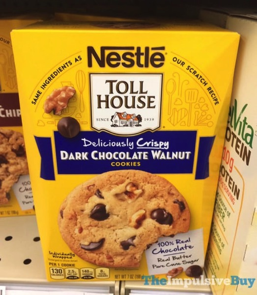 Nestle Toll House Deliciously Crispy Dark Chocolate Walnut Cookies