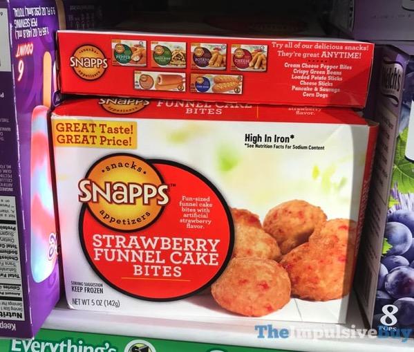 Snapps Strawberry Funnel Cake Bites
