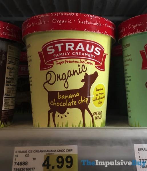 Straus Family Creamery Banana Chocolate Chip Ice Cream