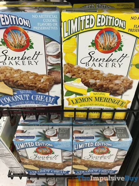 Sunbelt Bakery Limited Edition Chewy Granola Bars  Coconut Cream and Lemon Meringue