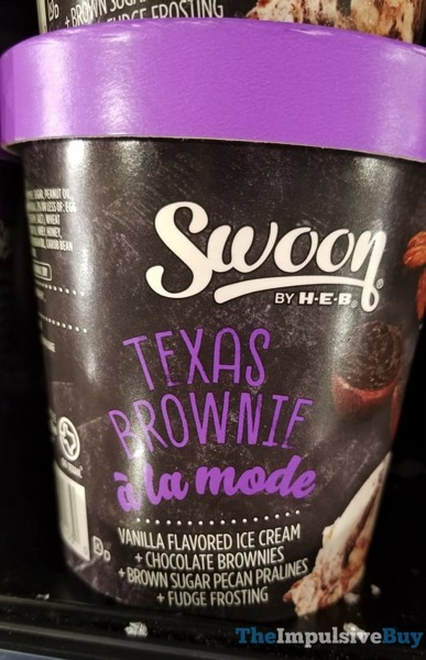 Swoon by H E B Texas Brownie a la Mode Ice Cream