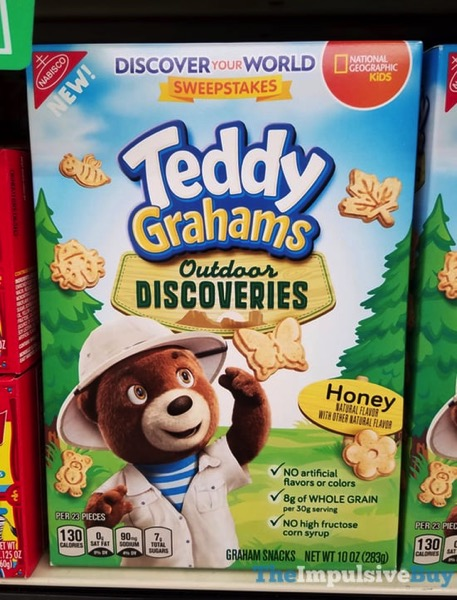 Teddy Grahams Outdoor Discoveries Honey Graham Snacks