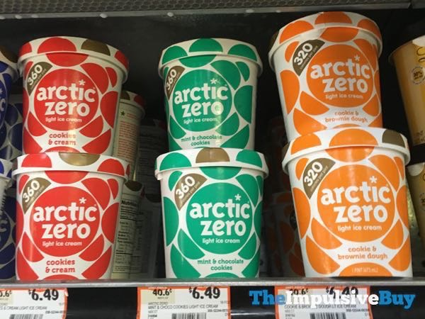 Arctic Zero Light Ice Cream  Cookies  Cream Mint  Chocolate Cookies and Cookie  Brownie Dough