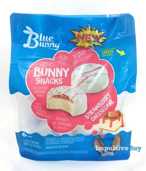 Blue Bunny Bunny Snacks Strawberry Cheesecake