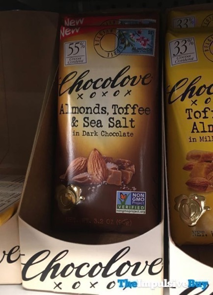 Chocolove Almonds Toffee  Sea Salt in Dark Chocolate Bar