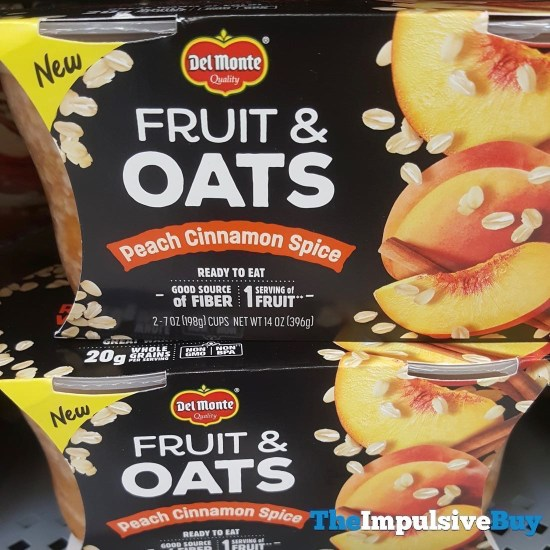 Del Monte Fruit  Oats Peach Cinnamon Spice