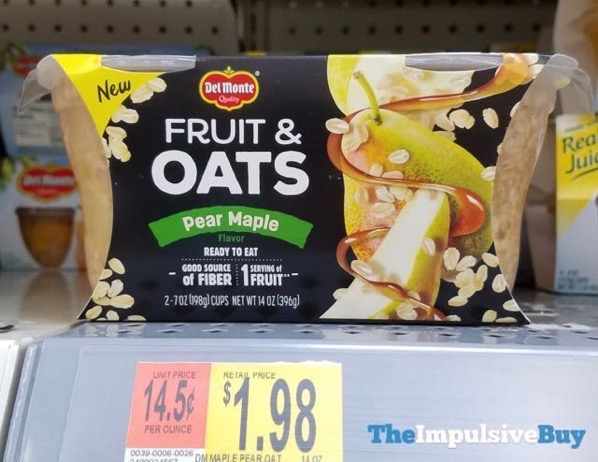 Del Monte Fruit  Oats Pear Maple