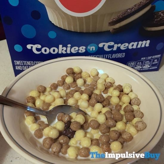 General Mills Dippin Dots Cookies  n Cream Cereal