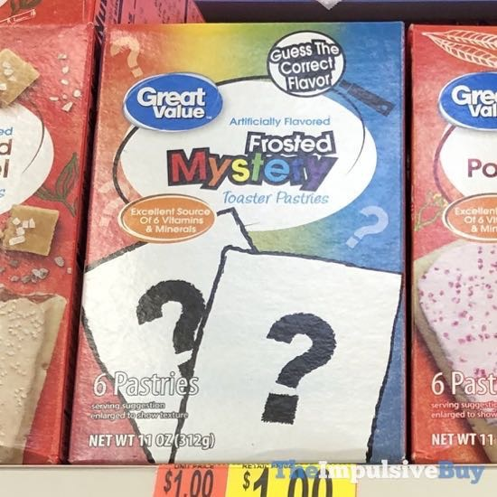 Great Value Frosted Mystery Toaster Pastries
