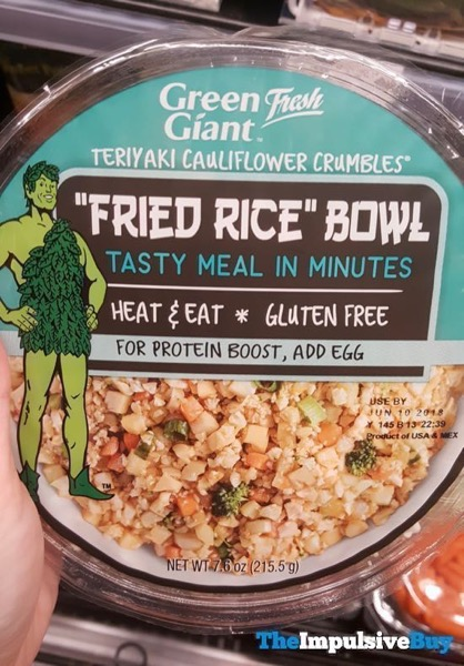 Green Giant Teriyaki Cauliflower Crumbles  Fried Rice Bowl