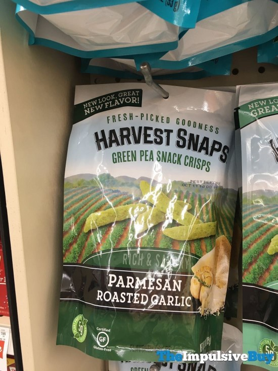 Harvest Snaps Parmesan Roasted Garlic Green Pea Snack Crisps