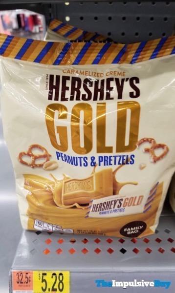 Hershey s Gold Peanuts  Pretzels Family Bag