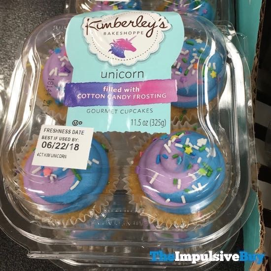Kimberley s Bakeshoppe Unicorn Gourmet Cupcakes Filled with Cotton Candy Frosting