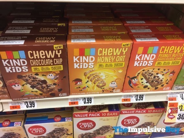 Kind Kids Chewy Granola Bars  Chocolate Chip Honey Oat and Peanut Butter Chocolate Chip