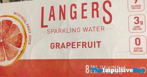 Langers Grapefruit Sparking Water 8 Pack Tall Cans