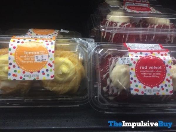 Lemon and Red Velvet Mini Bundt Cakes