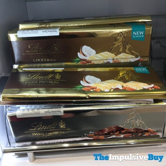 Lindt Gold Tablet White Chocolate Almond Coconut