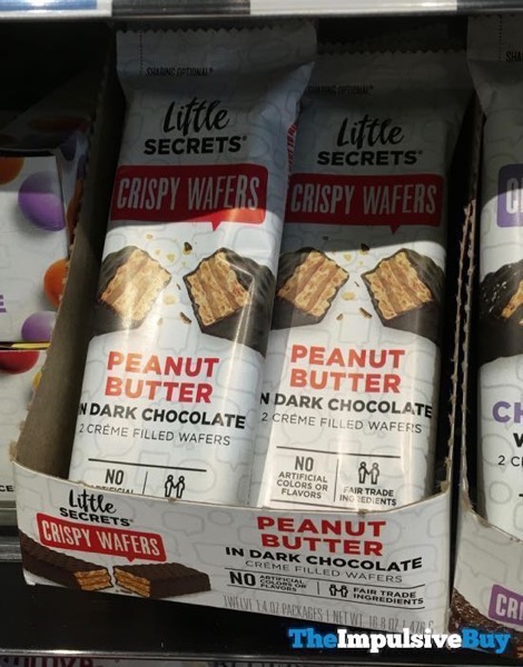 Little Secrets Crispy Wafers Peanut Butter in Dark Chocolate