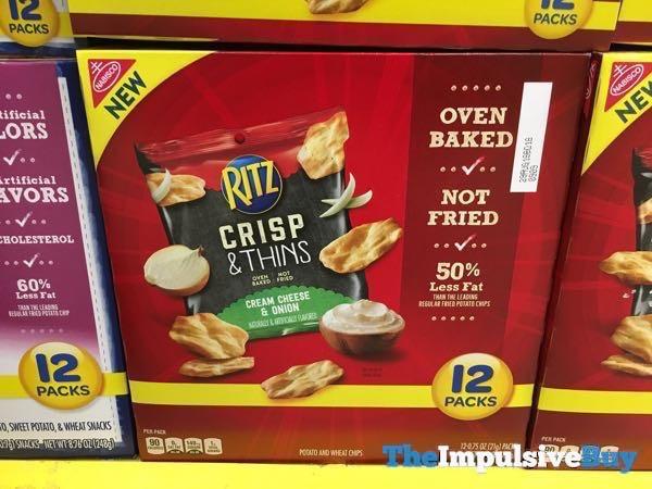 Nabisco Ritz Crisp  Thins Cream Cheese  Onion 12 Pack