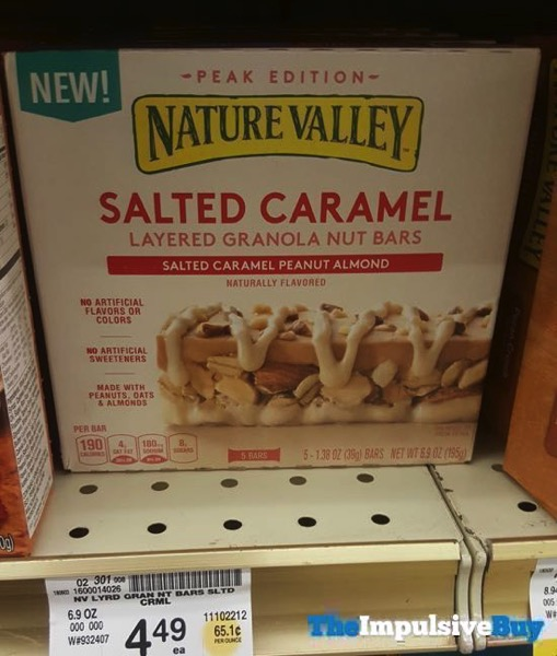 Nature Valley Peak Edition Salted Caramel Layered Granola Nut Bars