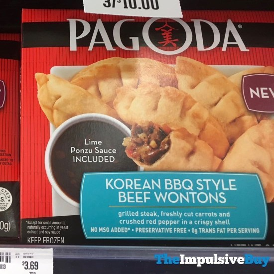 Pagoda Korean BBQ Style Beef Wontons