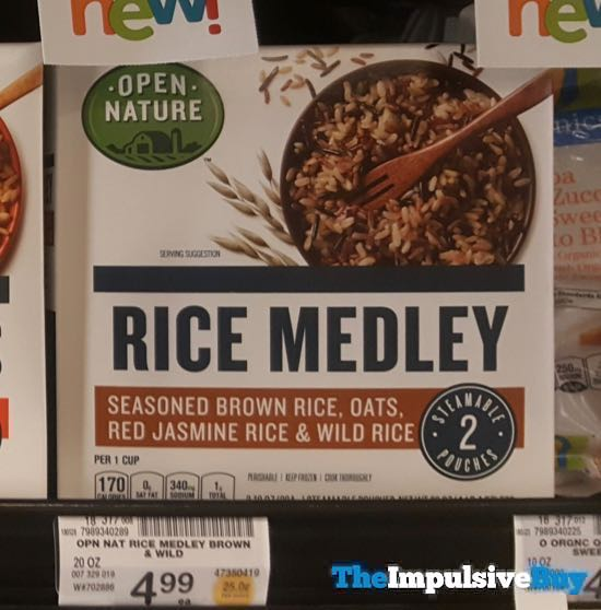 Safeway Open Nature Seasoned Brown Rice Oats Red Jasmine Rice and Wild Rice Rice Medley
