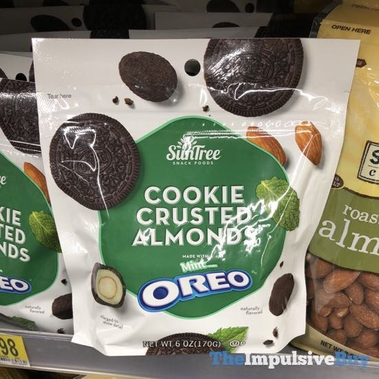 SPOTTED ON SHELVES: SunTree Cookie Crusted Almonds Made with Mint Oreo - The Impulsive Buy