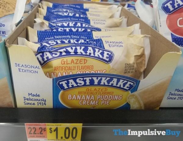 Tastykake Seasonal Edition Glazed Banana Pudding Creme Pie