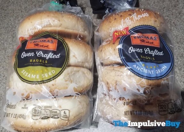 Thomas Sesame Seed and Ancient Grain Oven Crafted Bagels