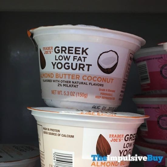 Trader Joe s Almond Butter Coconut Greek Low Fat Yogurt