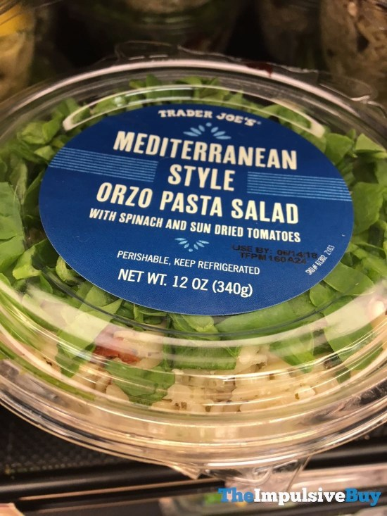 Trader Joe s Mediterranean Style Orzo Pasta Salad