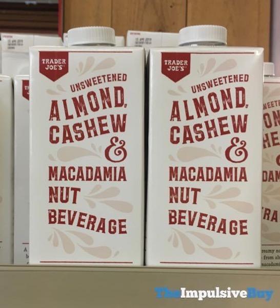 Trader Joe s Unsweetened Almond Cashew  Macadamia Nut Beverage