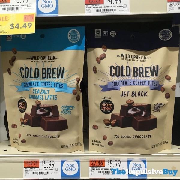 Wild Ophelia Cold Brew Chocolate Coffee Bites Bag  Sea Salt Caramel Latte and Jet Black  1