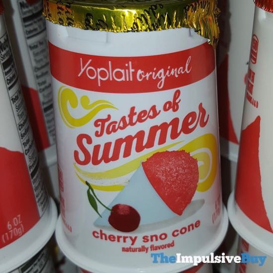 Yoplait Original Tastes of Summer Cherry Sno Cone Yogurt