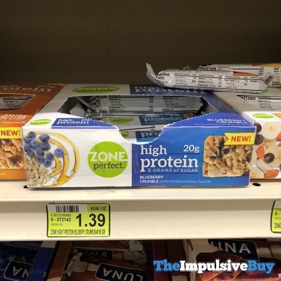 Zone Perfect High Protein Blueberry Crumble Bar