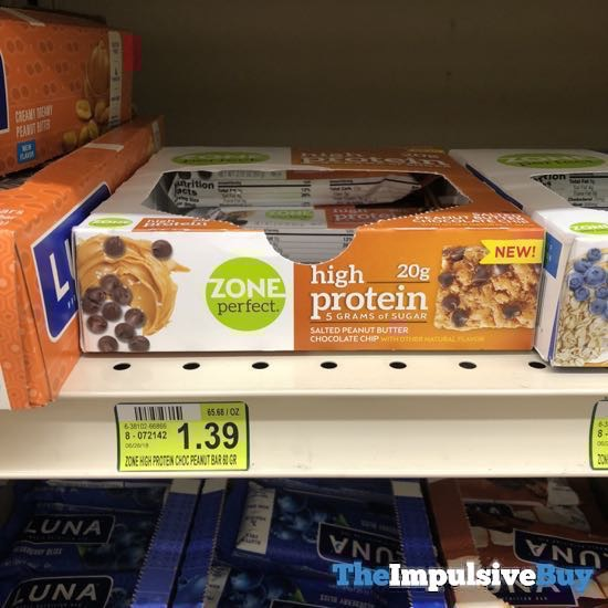 Zone Perfect High Protein Salted Peanut Butter Chocolate Chip Bar