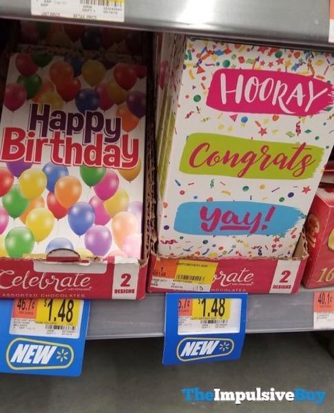 Celebrat with Chocolate Assorted Chocolates  Happy Birthday and Congrats