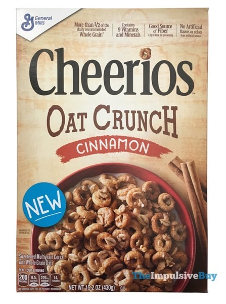 Cheerios Oat Crunch Cinnamon Cereal