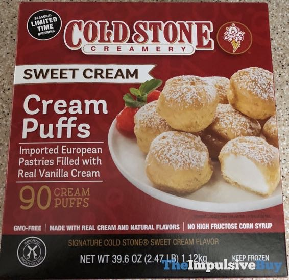 Cold Stone Creamery Sweet Cream Cream Puffs