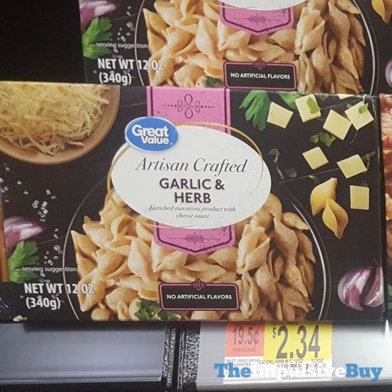 Great Value Artisan Crafted Garlic  Herb Macaroni Dinner