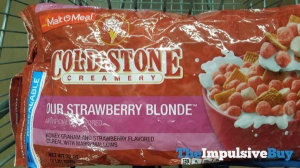 Malt O Meal Cold Stone Creamery Our Strawberry Blonde Cereal
