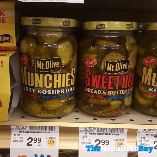 Mt Olive Munchies Zesty Kosher Dill and Sweet Heat Bread  Butter Chips