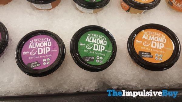 Oasis Naturals Organic Almond Dip  Smoky Chipotle Jalapeno Lime and Mango Habanero